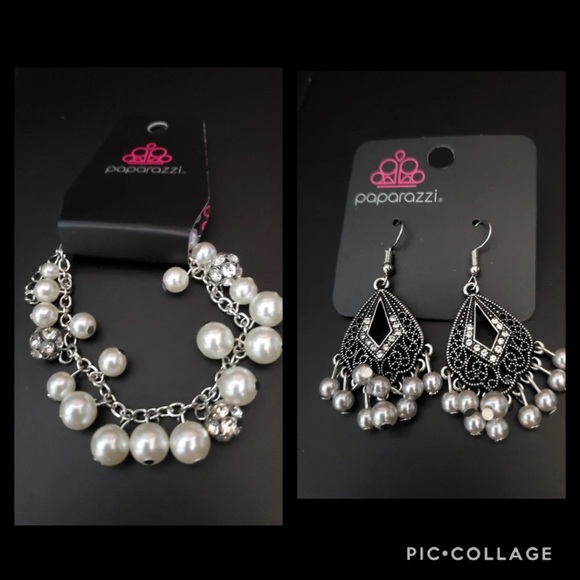 Faux Pearl Bracelet and matching earrings.